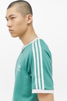 adidas 3-Stripe Hydro Green T-Shirt - Green XL at Urban Outfitters