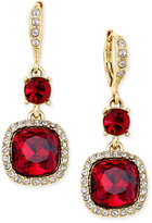Givenchy Gold-Tone Red Crystal Earrings