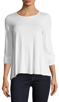 Three Dots High Low Gathered Tee
