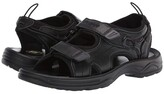 Propet SurfWalker II (Black Full Grain) Men's Sandals