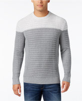 Alfani Men's Big and Tall Textured Colorblocked Sweater, Only at Macy's