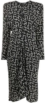 Isabel Marant Printed Silk-Blend Short Dress