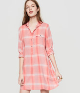 LOFT Lou & Grey Plaid Shirtdress