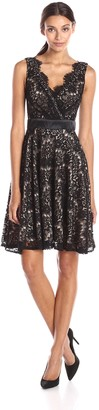 Betsy & Adam Women's Short Lace Party Dress