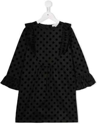 Stella McCartney flocked polka dot dress