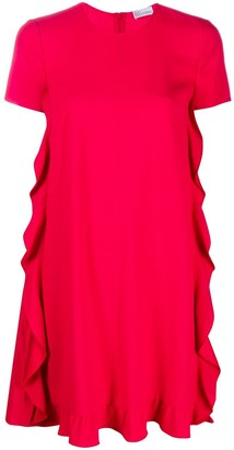 RED Valentino Ruffle Edge Shift Dress