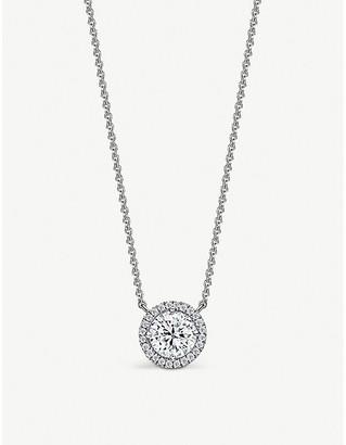 Vashi Halo platinum and 0.5ct diamond necklace