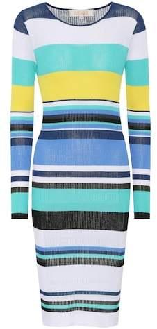 Diane von Furstenberg Striped rib-knit midi dress