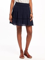 Old Navy Pom-Pom-Trim Gauze Circle Skirt for Women