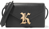 Christopher Kane Gothic K Devine Leather Shoulder Bag - Black
