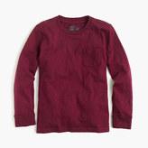 J.Crew Boys' slub long-sleeve pocket T-shirt
