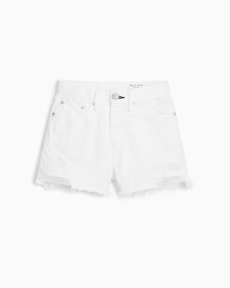 Rag & Bone Maya high-rise short - worn white with holes