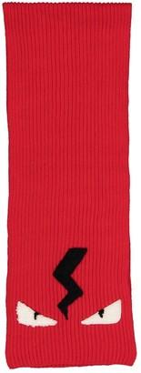 Fendi Red Wool Scarves & pocket squares