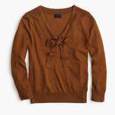J.Crew Tie-neck sweater in Italian featherweight cashmere
