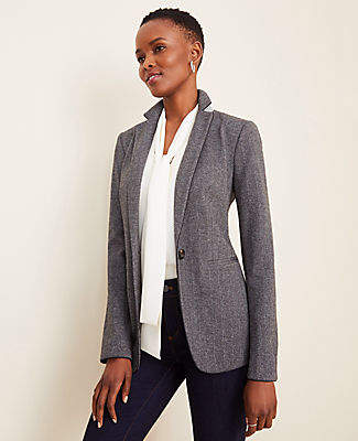 Ann Taylor The Hutton Blazer in Herringbone
