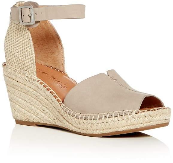 3d5e24e452d Gentle Souls by Gentle Souls Charli Nubuck Leather Ankle Strap Platform  Wedge Sandals