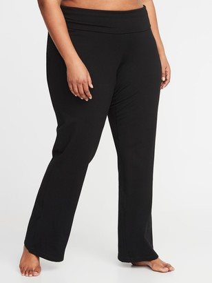 Old Navy Roll-Over 4-Way-Stretch Plus-Size Yoga Pants