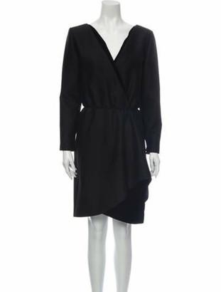 Oscar de la Renta Vintage Knee-Length Dress Black