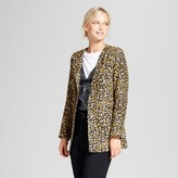 Who What Wear Women's Frock Coat Cheetah Print