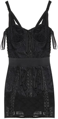 Dolce & Gabbana Lace-trimmed minidress