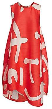 Pleats Please Issey Miyake Women's Pause Printed Shift Dress