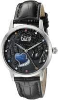Burgi Women's BUR149 Round Dial Three Hand Quartz Stainless Steel Strap Watch