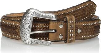 Nocona Belt Co. Men's Ostrich Stitch Overlay