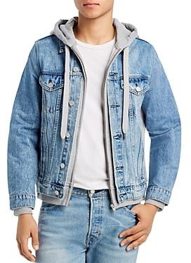 Blank NYC Layered-Look Slim Fit Denim Jacket