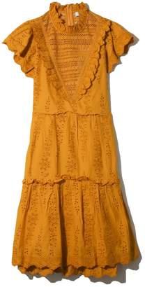 Sea Lea Ruffle Dress in Turmeric