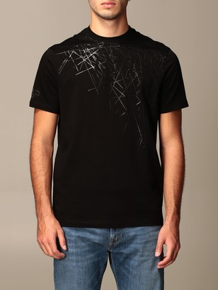Armani Exchange Cotton T-shirt With Geometric Print