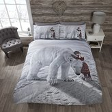 Rapport Polar Bear Quilt Duvet Cover and 2 Pillowcase Bedding Bed Set, Multi-Colour, King