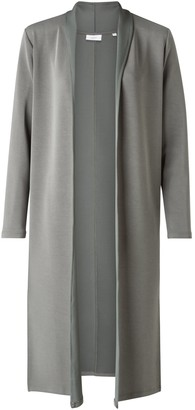 Ya-Ya Long Cardigan with Scarf Collar - Blueish Grey - small | blueish grey