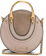 Chloé Mini Pixie Shiny Goatskin, Calfskin & Suede Double Handle Bag