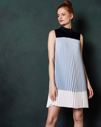 Ted Baker Colour Block Pleated Dress