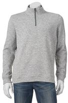 Croft & Barrow Big & Tall Marled Quarter-Zip Sweater Fleece