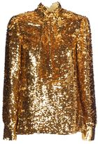 MSGM Top Paillettes From