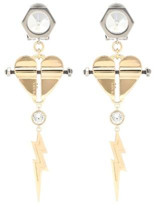 Prada Crystal-embellished clip-on earrings