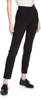 Emporio Armani Black Magic Straight-Leg Ankle Pants