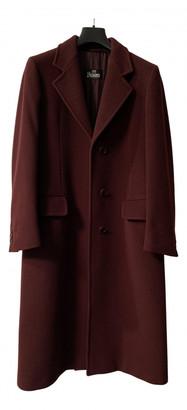 Herno Burgundy Wool Coats