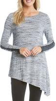 Karen Kane Asymmetrical Long Sleeve Knit Top