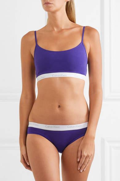 Calvin Klein Underwear Ck One Stretch-cotton Jersey Soft-cup Bra