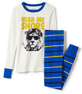 Classic Boys Snug Fit Pajama Set-Vibrant Blue Stripe