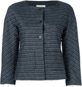 L'Autre Chose plaid cropped fitted jacket