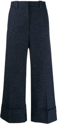 J.W.Anderson speckled wide leg trousers