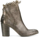 Strategia frayed-hem woven boots
