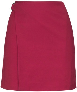 Wales Bonner Linen Blend Wrap Mini Skirt