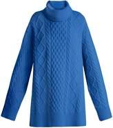 Raey Split-side roll-neck wool cable sweater