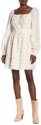 Joie Mianda Patterned Long Sleeve Dress