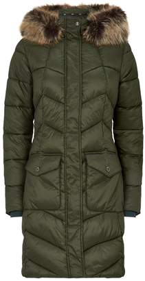 Barbour Clam Faux Fur Padded Jacket