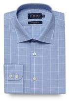 Osborne Blue Checked Print Tailored Fit Shirt